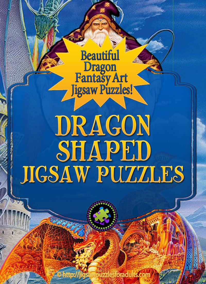 Dragon Shaped Jigsaw Puzzles