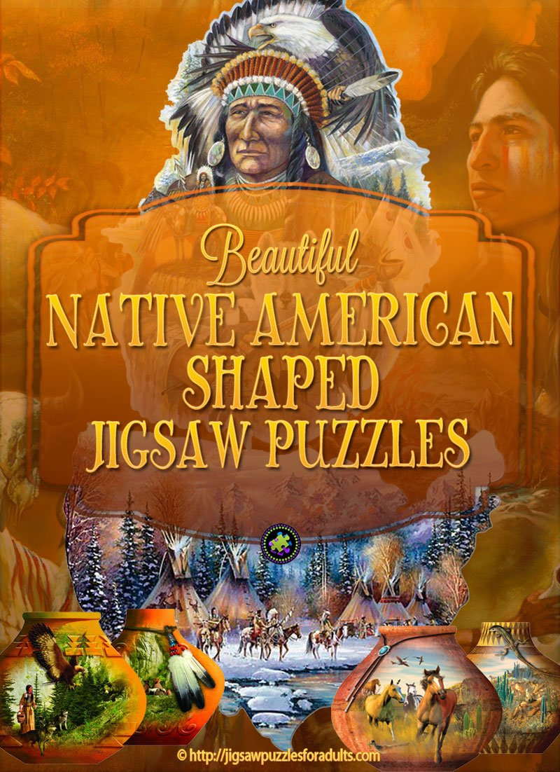 Native American Shaped Jigsaw Puzzles