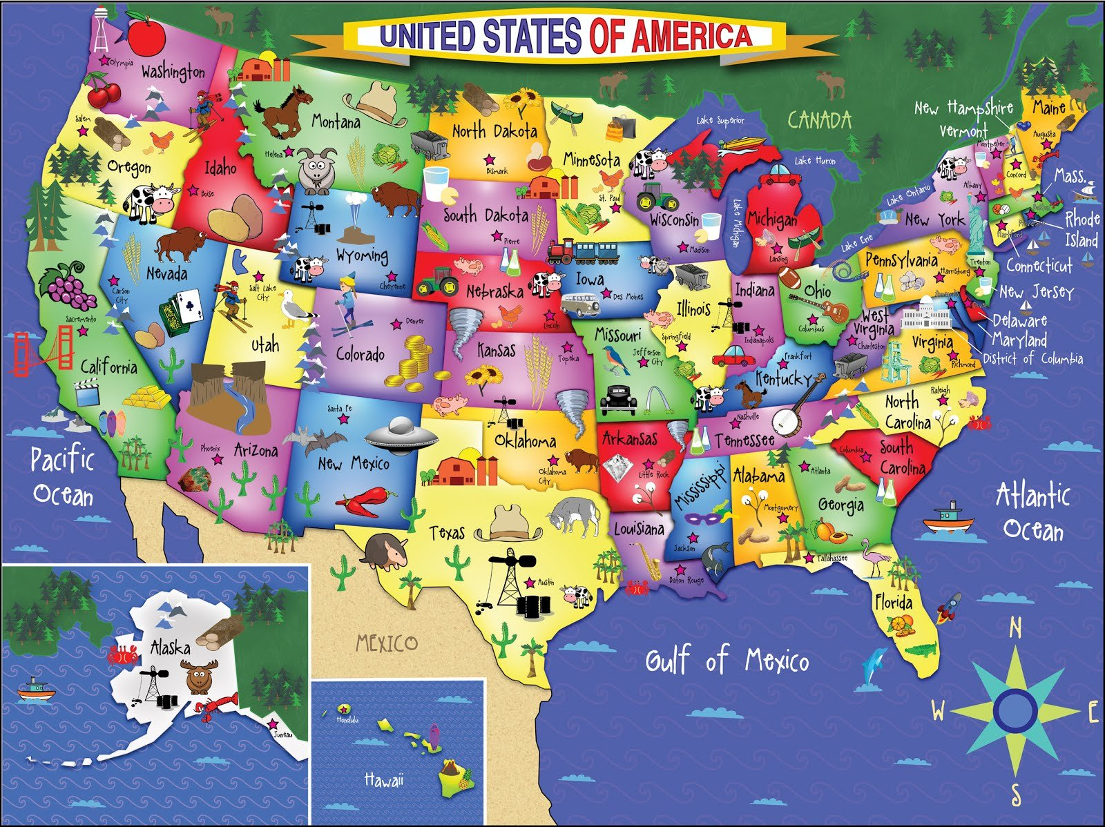 United States Map Jigsaw Puzzle | Jigsaw Puzzles For Adults