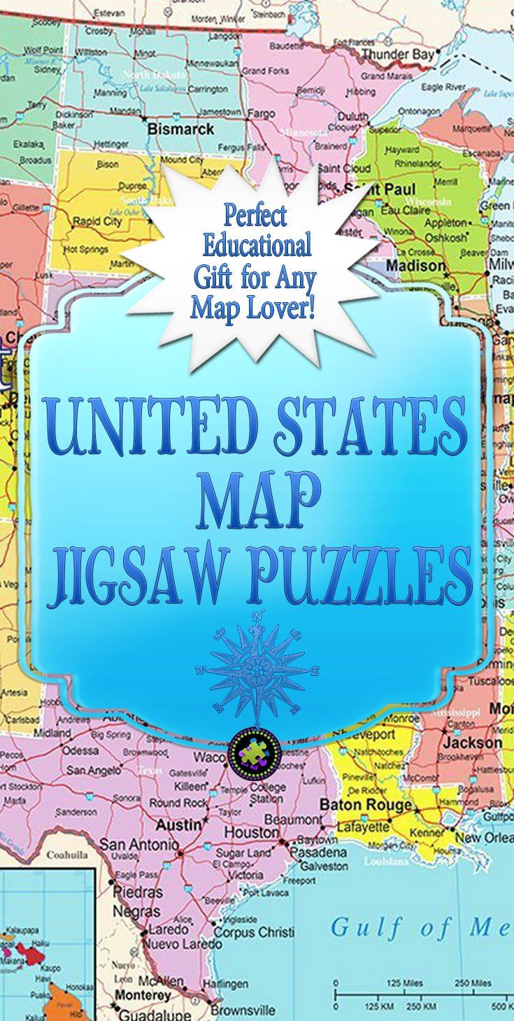 United States Map Puzzles.United States Map Jigsaw Puzzle Jigsaw Puzzles For Adults