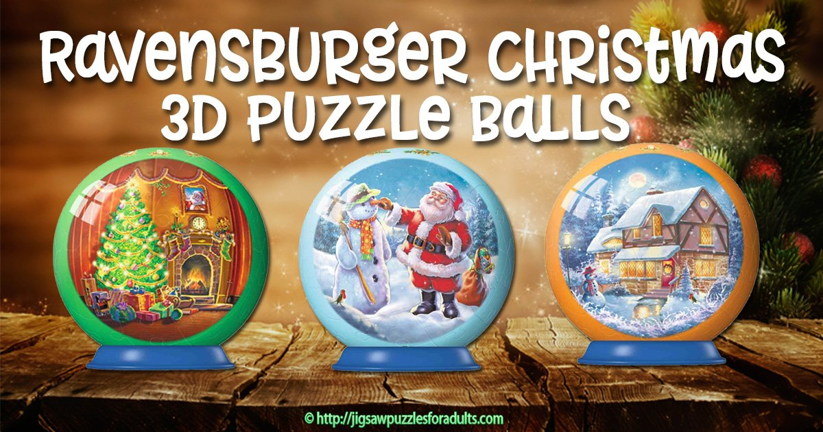 Ravensburger Christmas Puzzle Balls | Jigsaw Puzzles For Adults