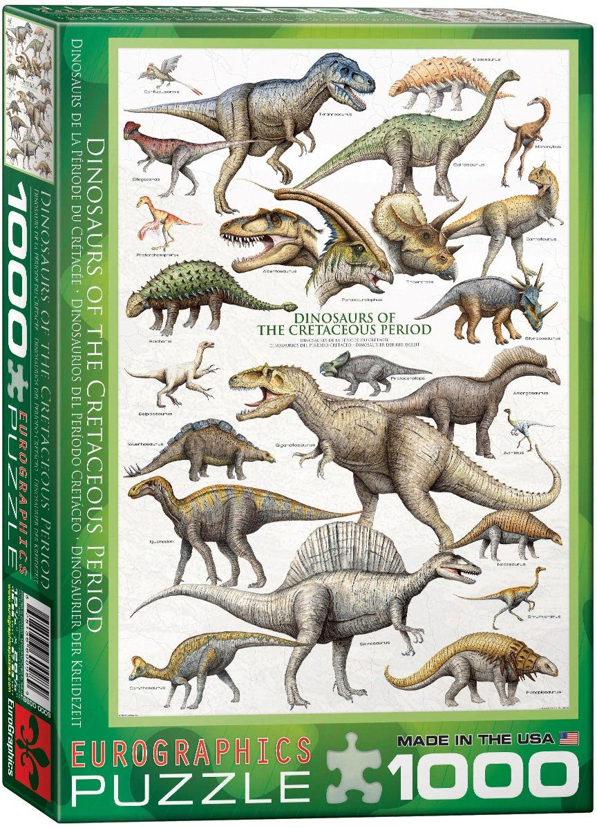 1000 Pieces Rich Color Challenge Dinosaurs Round Jigsaw Puzzles Jigsaw Puzzles for Adults Kids Dinosaurs World