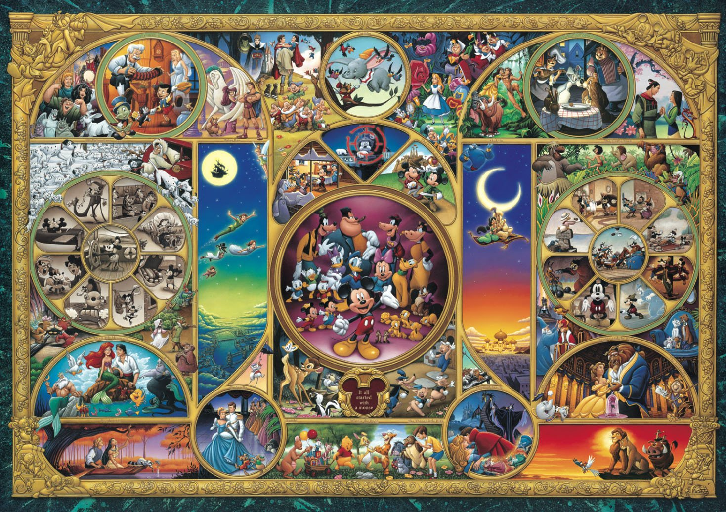 Disney Stained Art Jigsaw Puzzle | Jigsaw Puzzles For Adults