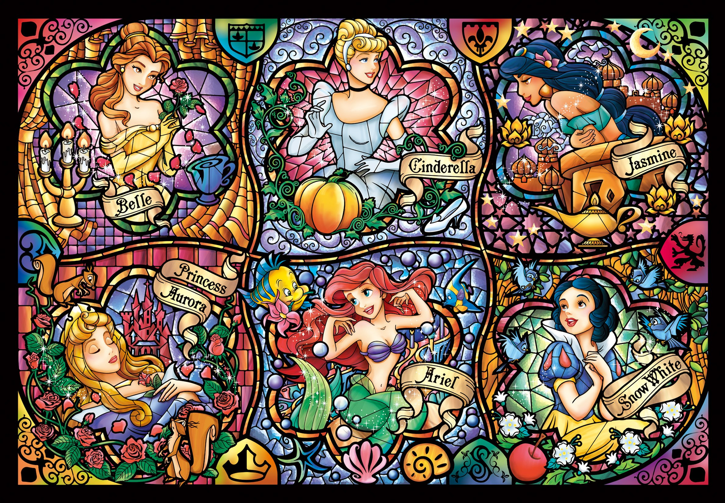 Art Disney: Disney Stained Art Jigsaw Puzzle