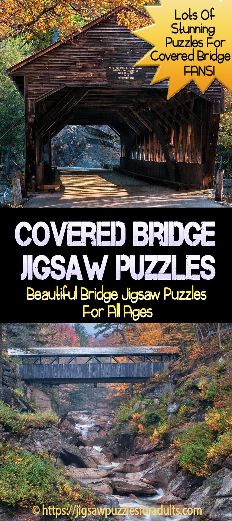 Covered Bridge Jigsaw Puzzles
