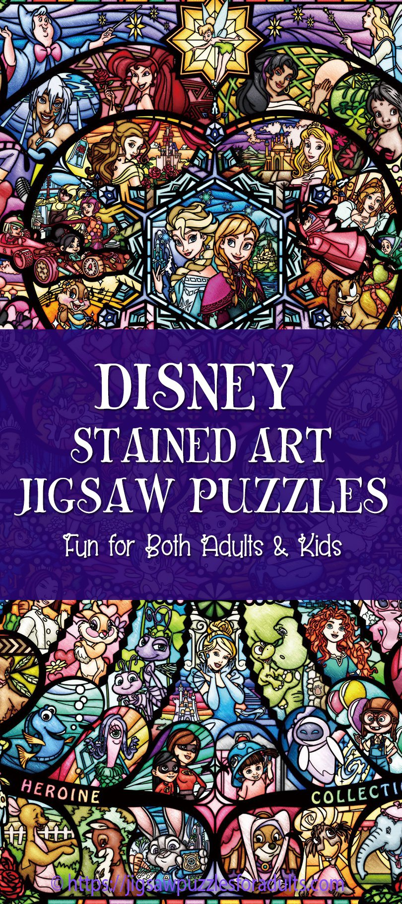 Disney stained art jigsaw puzzle