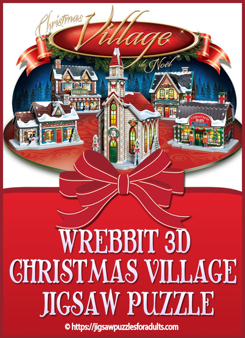 3D Christmas Village Jigsaw Puzzle