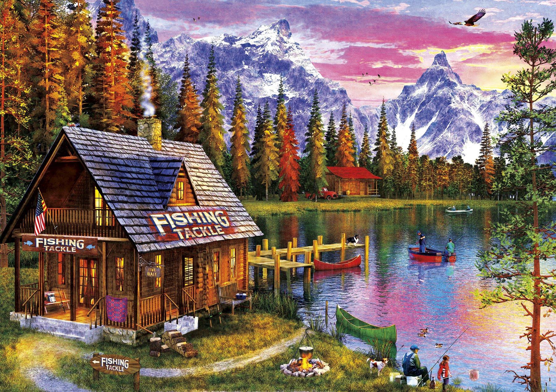 SUNSOUT INC Lake Landscape 300 pc Jigsaw Puzzle