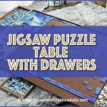 Jigsaw Puzzle Table Drawers | Perfect Wooden Puzzle Plateau Work Space