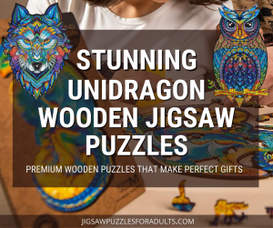 unidragon Wooden Jigsaw Puzzles Owl and wolf